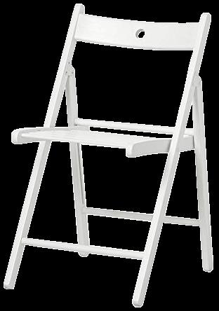 Holz-Klappstuhl - weiß
